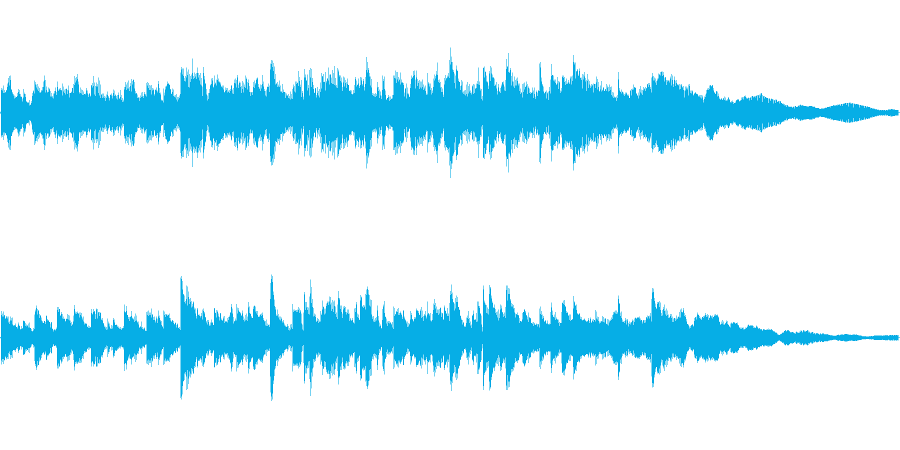 sky songの再生済みの波形