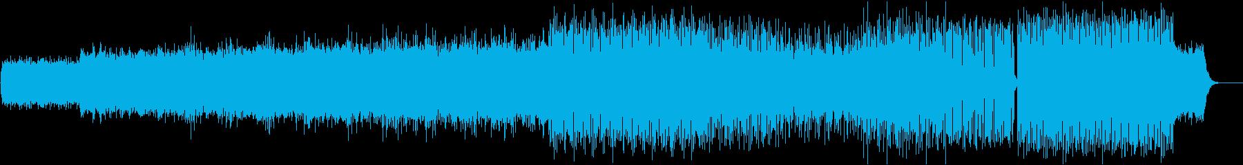 シンセと色々なリズムのエレクトロの再生済みの波形
