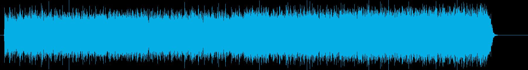パワー全開のハードロックギターサウンドの再生済みの波形