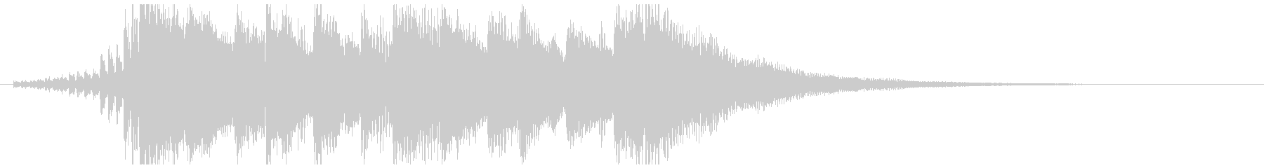 ニュース番組オープニング風BGM(10秒の未再生の波形
