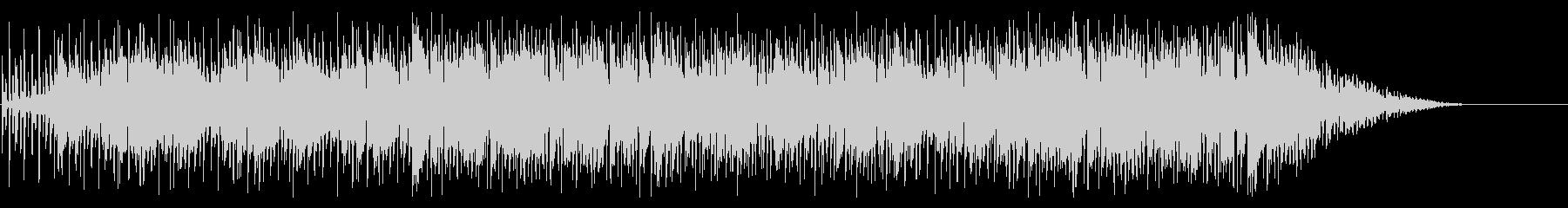 エンディング風チル&ジャズなヒップホップの未再生の波形