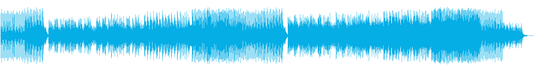 のんびりとした時間と空間を表現した和曲の再生済みの波形