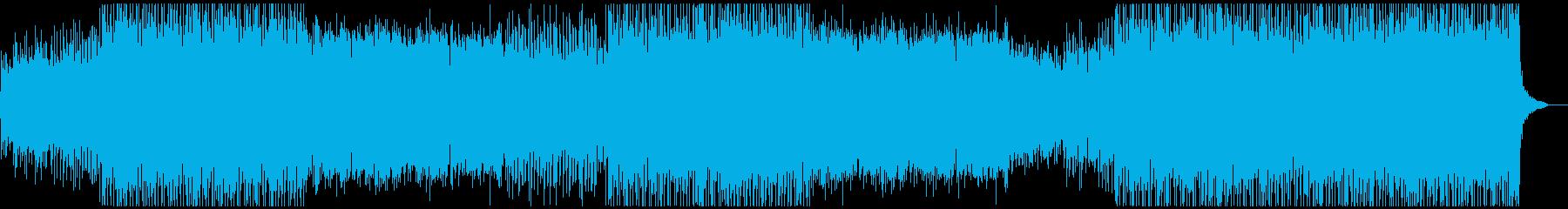 尺八メインの疾走感・激しい和風EDMの再生済みの波形