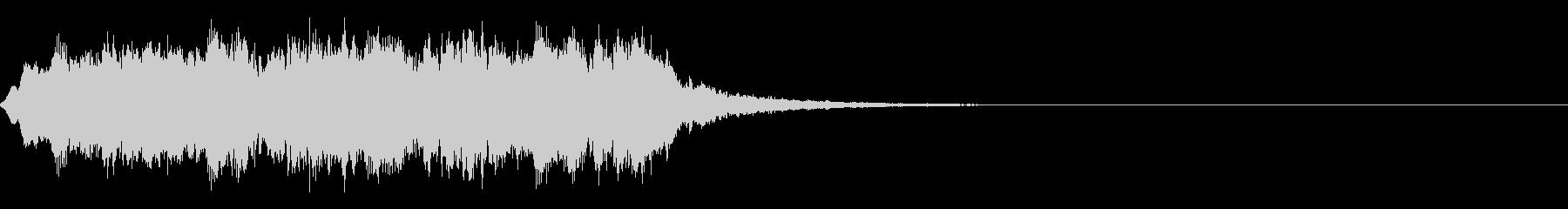 速報ジングル、突然割り込む音1の未再生の波形