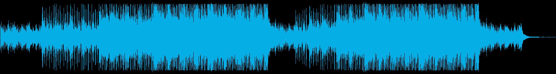 ポジティブなアコギとマンドリンのフォークの再生済みの波形