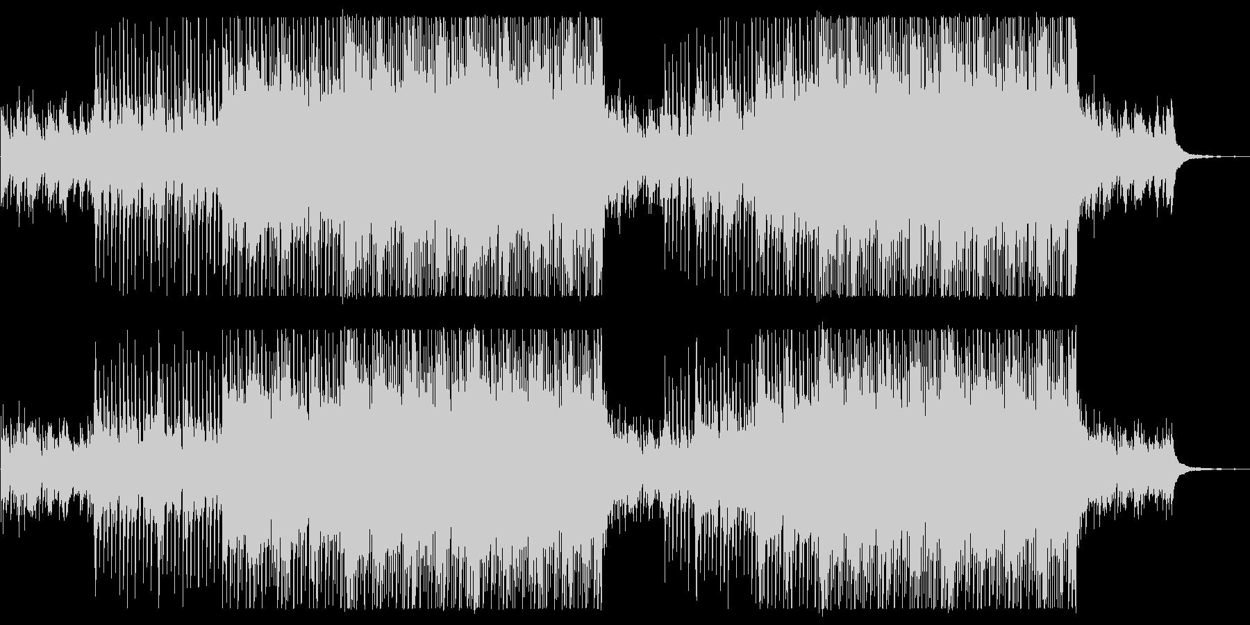 ポジティブなアコギとマンドリンのフォークの未再生の波形