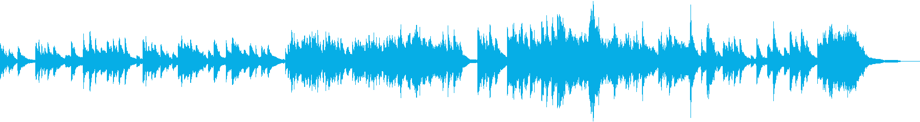 淋し気で温かみのあるピアノソロの再生済みの波形