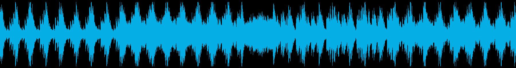 野性味溢れる勇ましいリズムが特徴のBGMの再生済みの波形