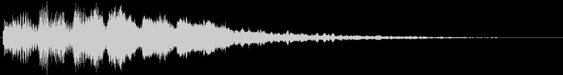 タラランタララン↑ 駆け上がり音1の未再生の波形