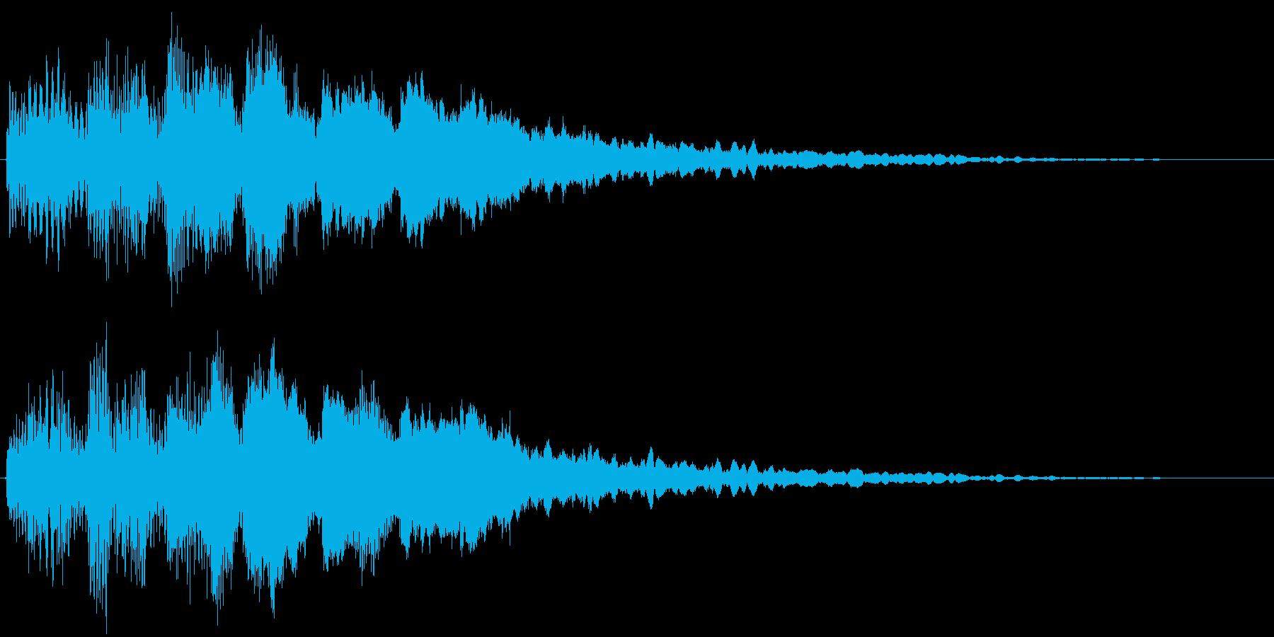 タラランタララン↑ 駆け上がり音1の再生済みの波形