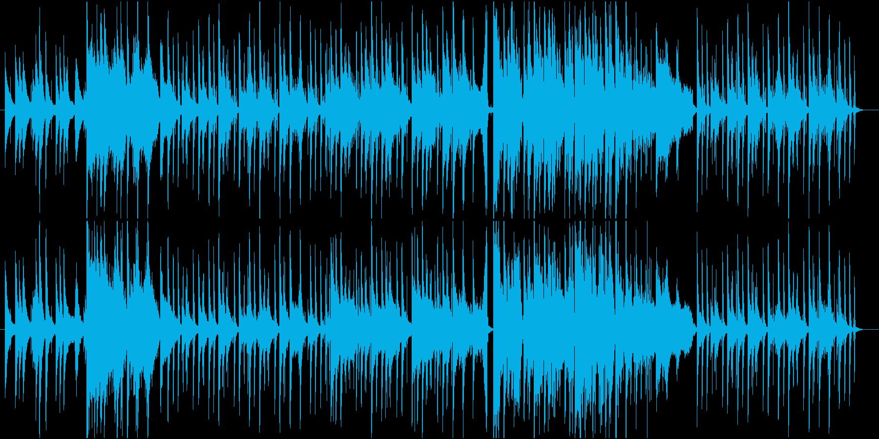 切なく美しいピアノバラードポップBGMの再生済みの波形