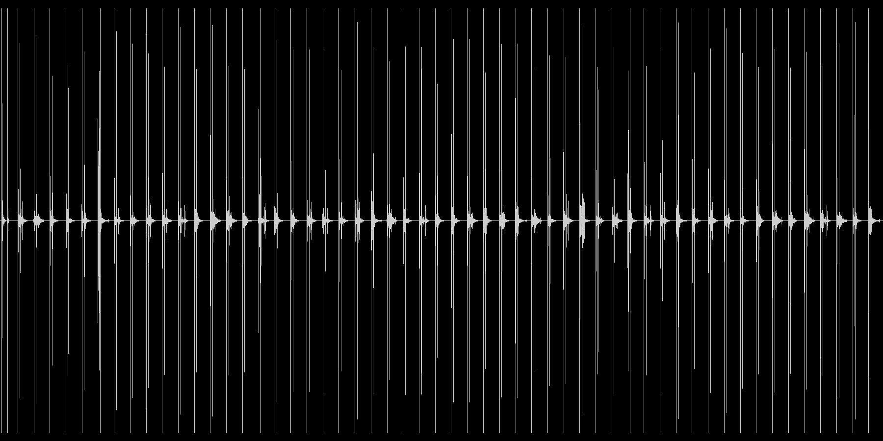 汎用性のあるハイヒールで走る音の未再生の波形