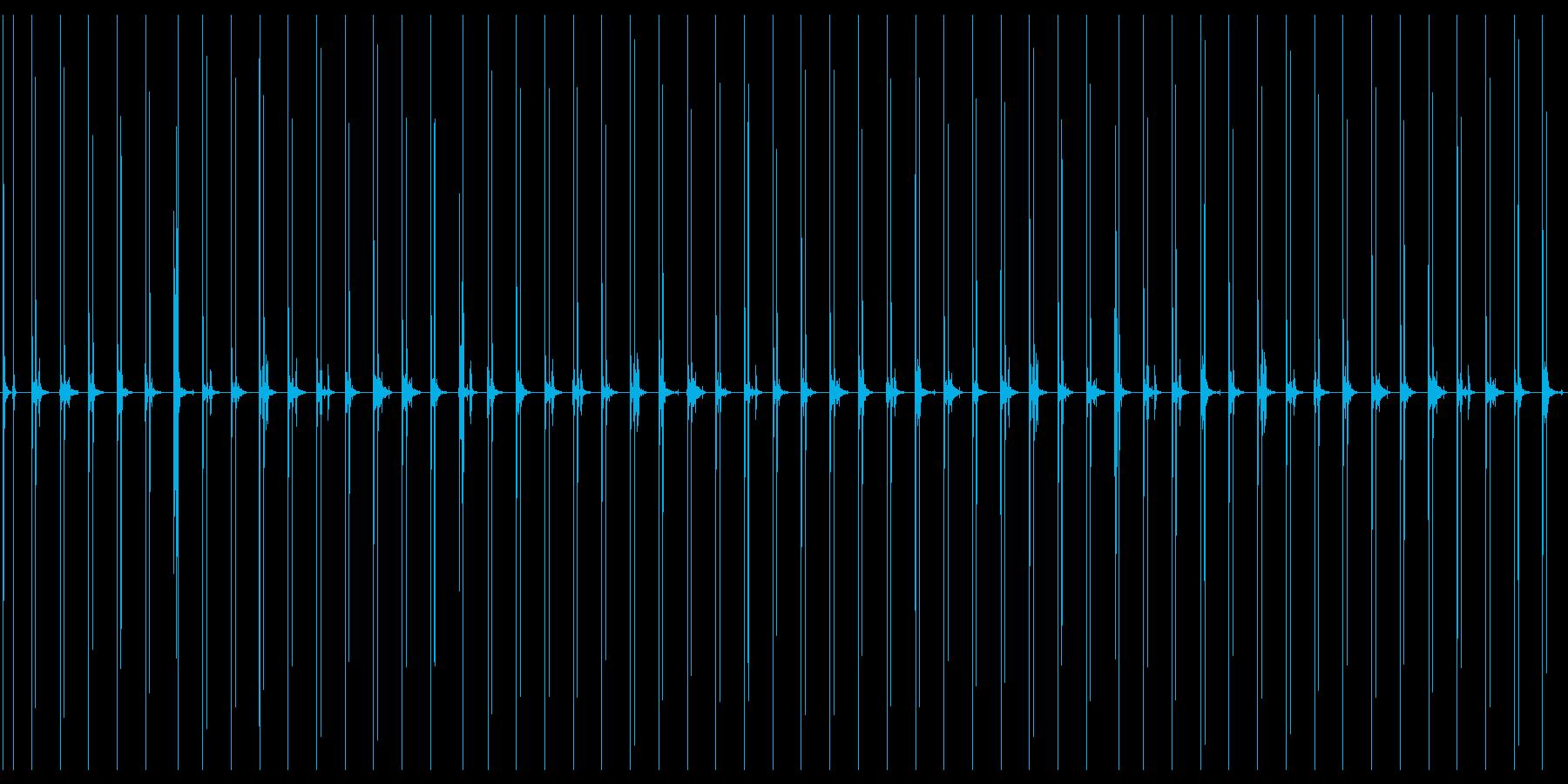 汎用性のあるハイヒールで走る音の再生済みの波形