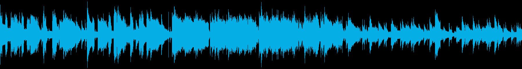 ゆったりと優しいジャズ風の日常系BGMの再生済みの波形