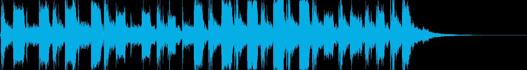 コミカル・ドタバタ・かわいい日常ジングルの再生済みの波形