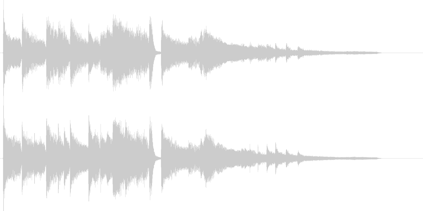 エンディング前のジングル向けピアノソロの未再生の波形