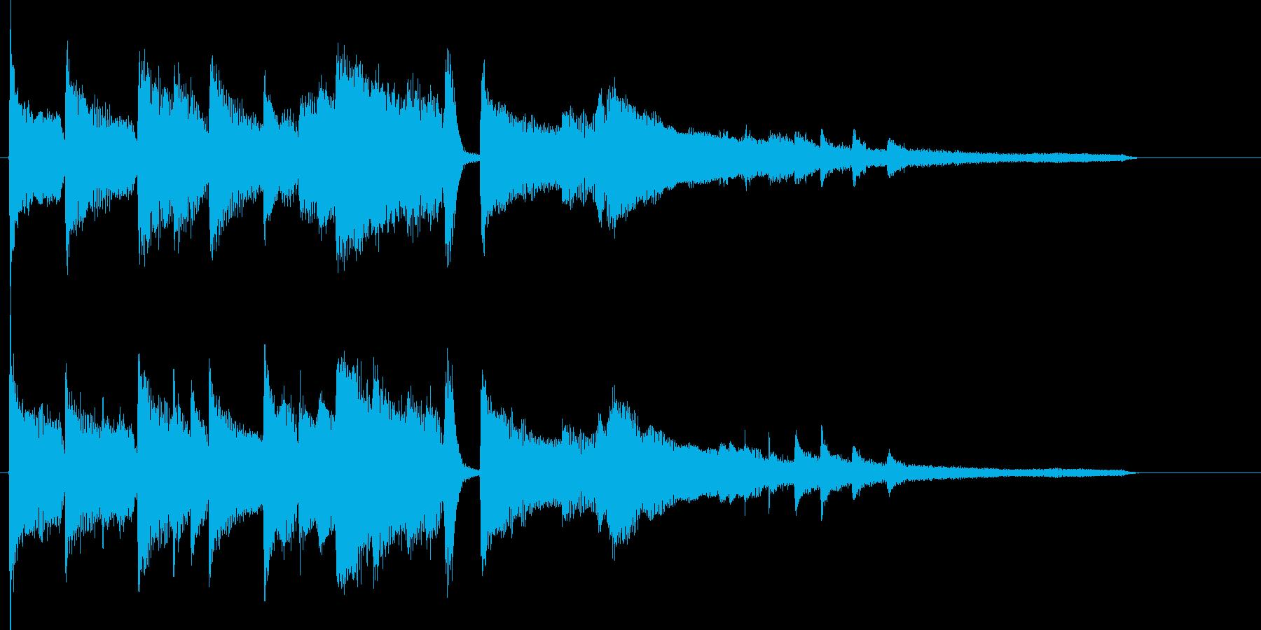エンディング前のジングル向けピアノソロの再生済みの波形