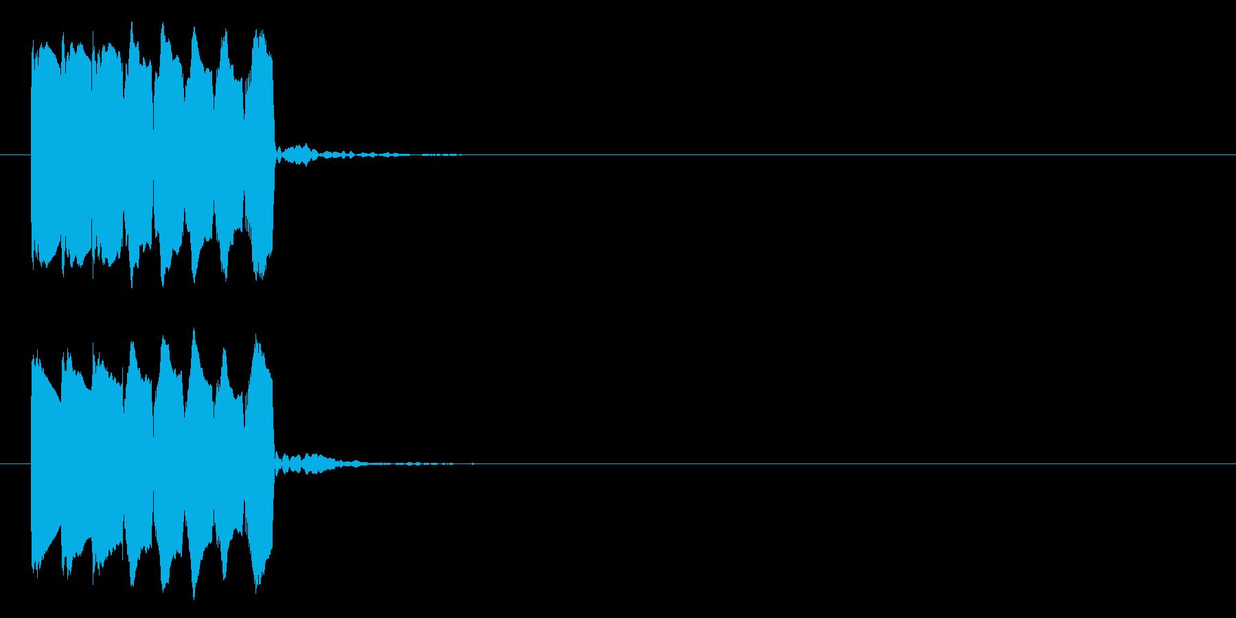 場面転換(下降)01の再生済みの波形
