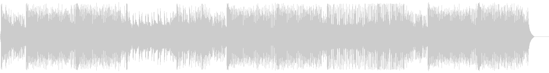 和風EDM・アップテンポな三味線の未再生の波形