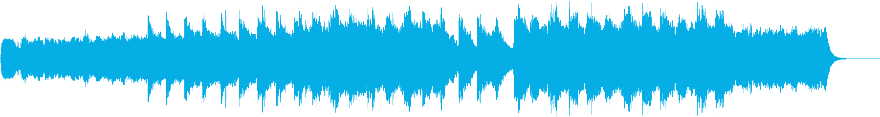 ストリングスとピアノの神秘的なクラシックの再生済みの波形
