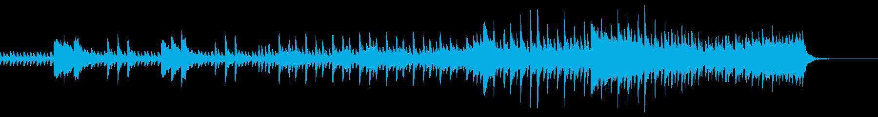 爽やかなイメージのピアノ・ストリングス曲の再生済みの波形