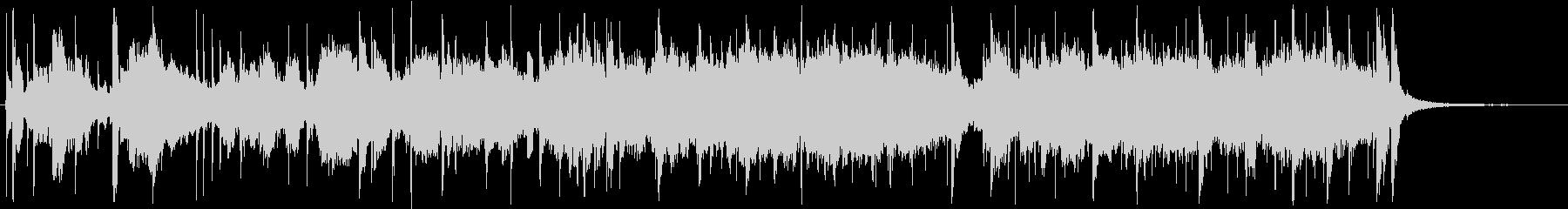 フリージャズ的な混沌としたBGMの未再生の波形
