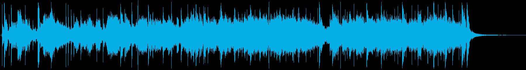 フリージャズ的な混沌としたBGMの再生済みの波形