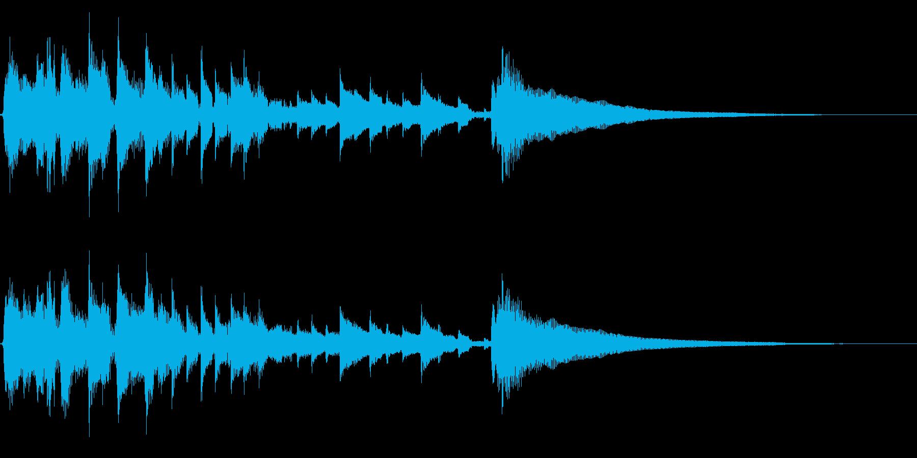 アコギ36/明るい、15秒、生音、ソロの再生済みの波形