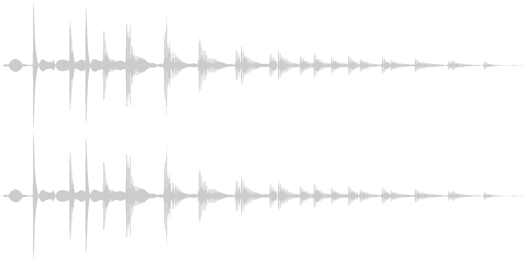 ダメージ (縮む、落とす) テピィォォンの未再生の波形