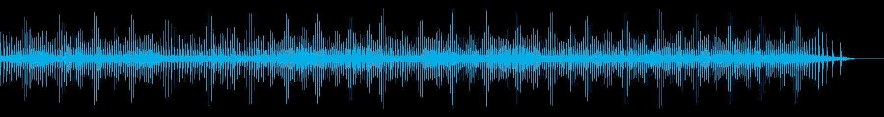 [生録音]魚釣り、リールを巻く05の再生済みの波形