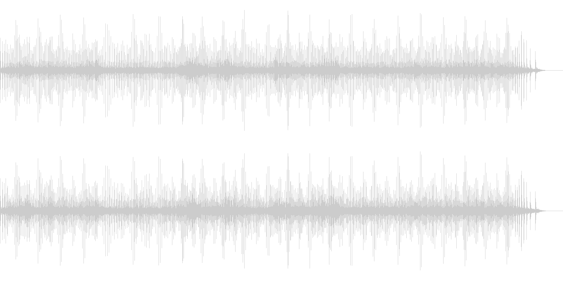 [生録音]魚釣り、リールを巻く05の未再生の波形