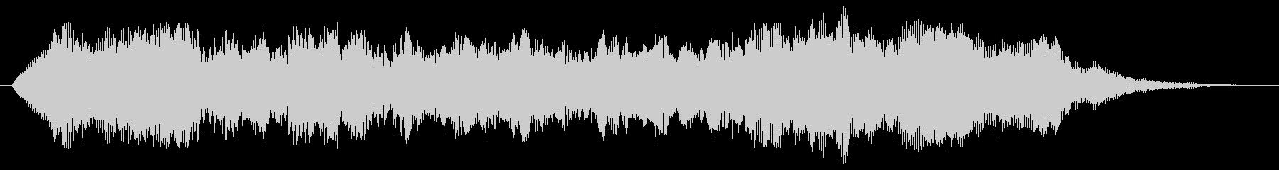 ジングル(シンセストリングス+せせらぎ)の未再生の波形