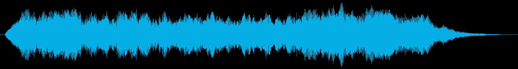 ジングル(シンセストリングス+せせらぎ)の再生済みの波形