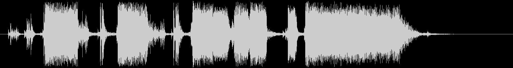 ジングル カッティングギターAの未再生の波形