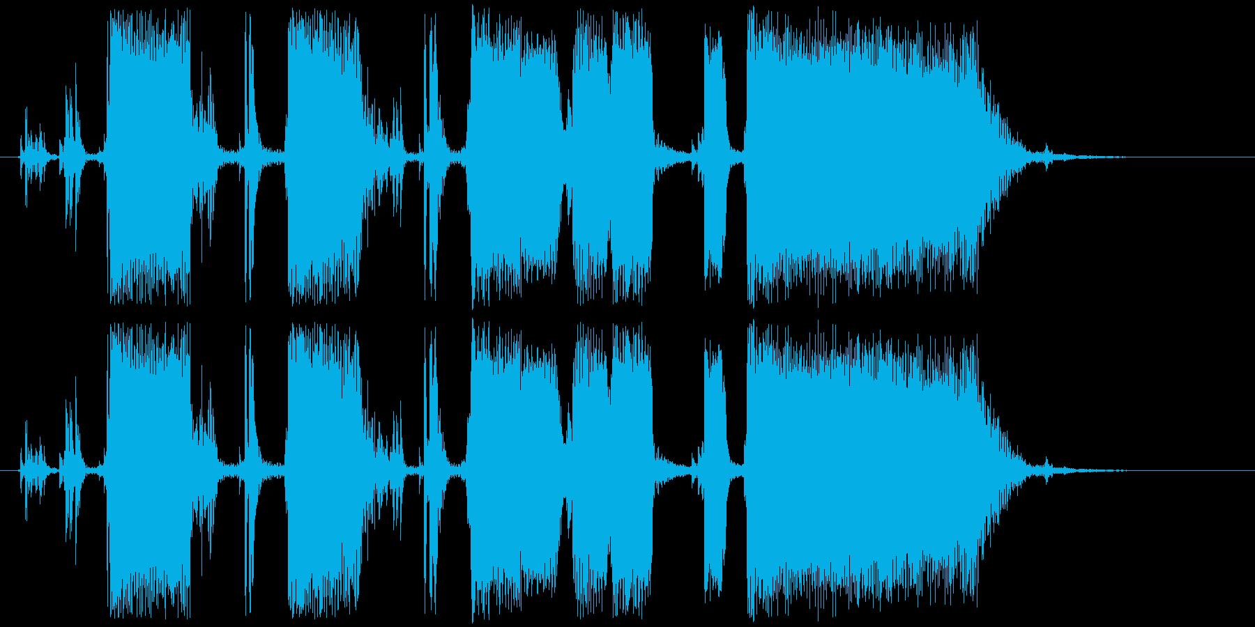 ジングル カッティングギターAの再生済みの波形