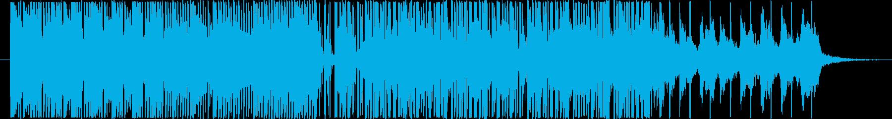 ベースで未来的な曲の再生済みの波形