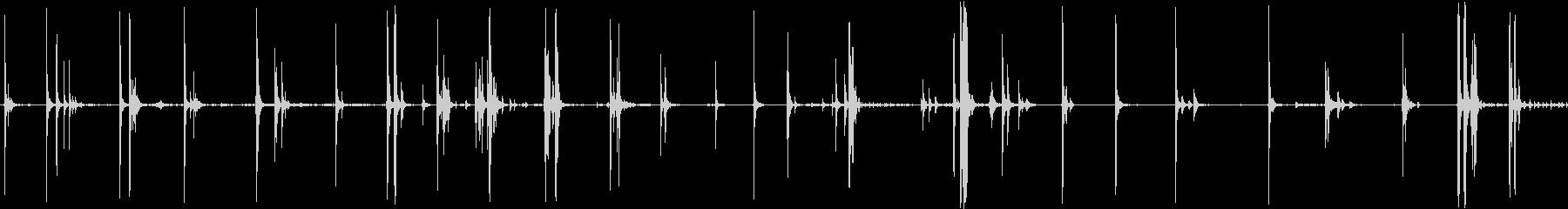 ジム木製クランクの未再生の波形