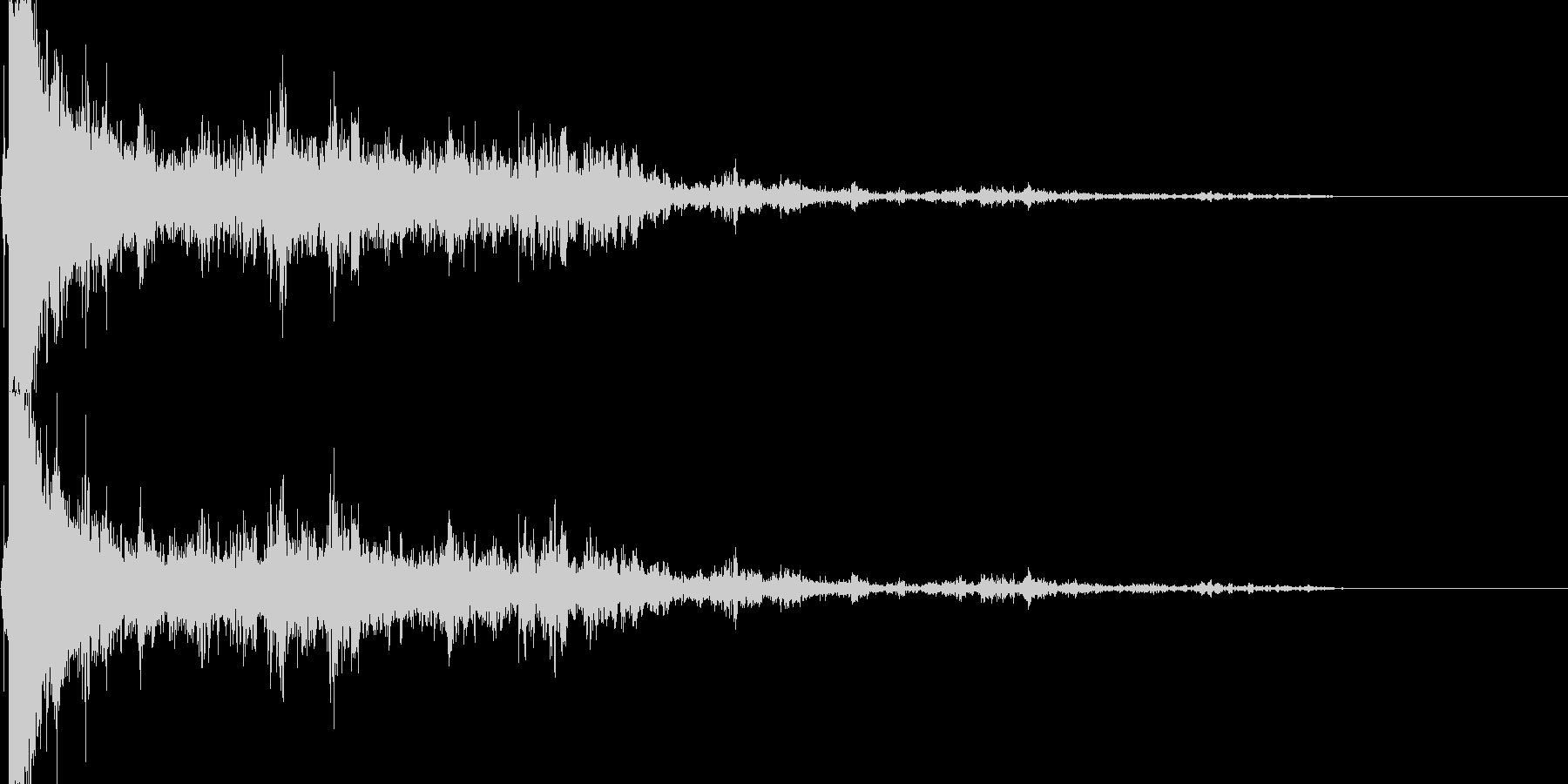 落雷 (ピシャーン…ゴロゴロ…ドーン)の未再生の波形