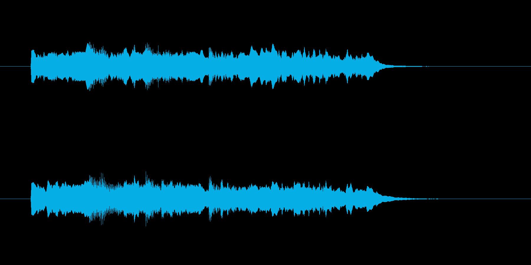 ピンポンパンポーンの再生済みの波形