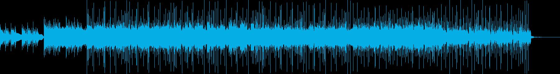 シンプルで落ち着く雰囲気のBGMの再生済みの波形
