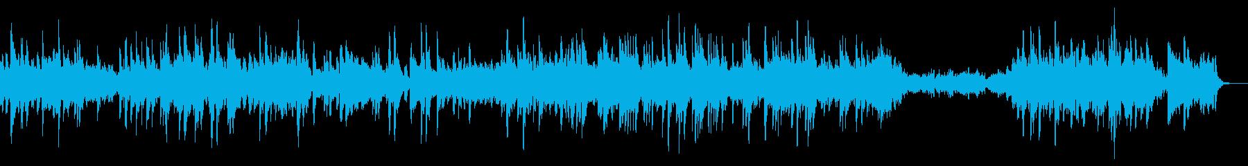 ゆったりとした癒しの音楽。ピアノバラードの再生済みの波形
