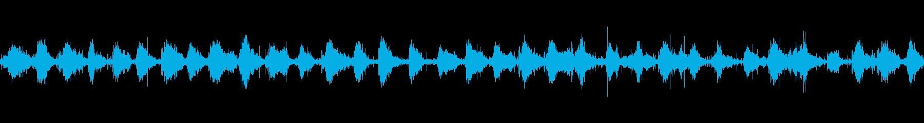落ち葉の上を走る(落葉多め・ループ対応)の再生済みの波形