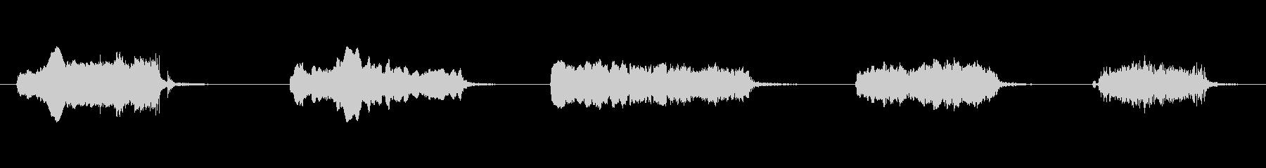 ガラス摩擦x5の未再生の波形