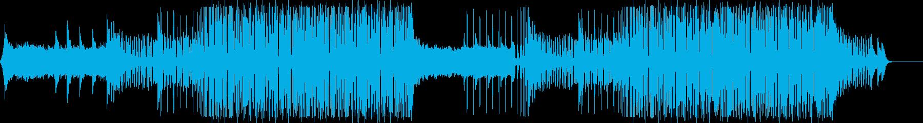 前向きでテンポの良いピアノEDMポップの再生済みの波形