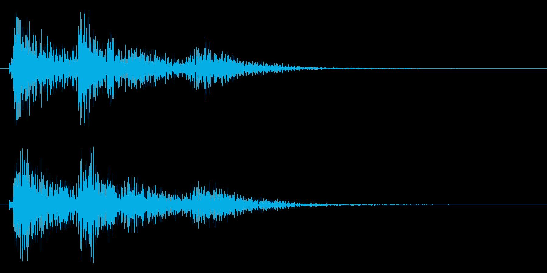 缶を落とす音(カラン)の再生済みの波形