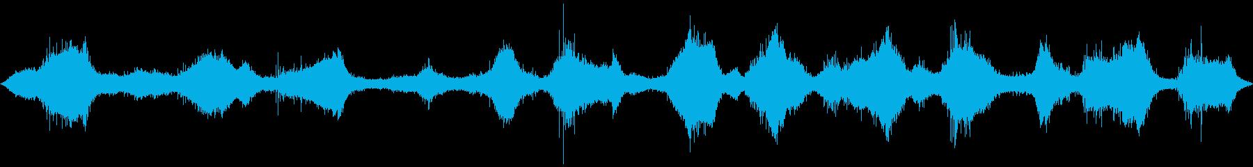 波と砂利がぶつかり合う音が特徴的な波音の再生済みの波形