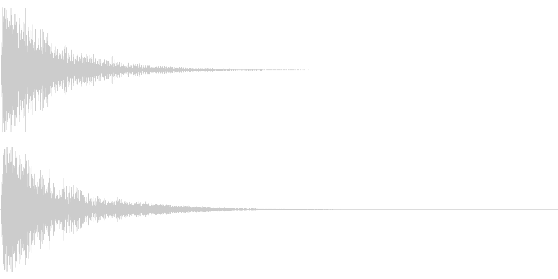 オケヒット HIGHの未再生の波形