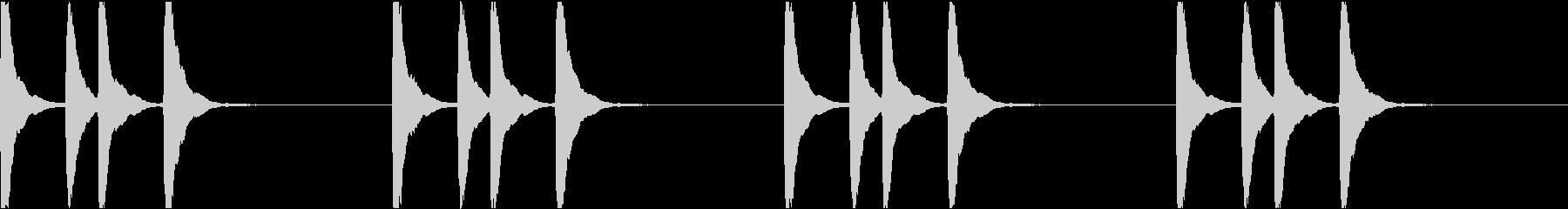 シンプル ベル 着信音 チャイム C-7の未再生の波形
