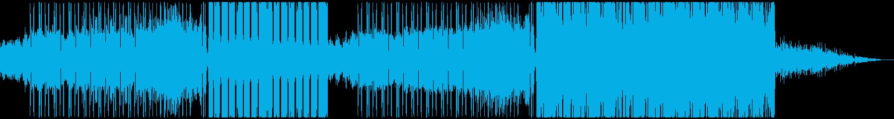 キラキラ輝くFUTURE BASSの再生済みの波形