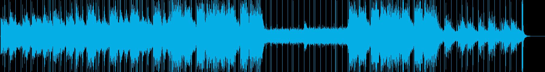 神秘的なオリエンタルミュージックの再生済みの波形